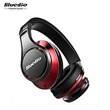LEBAIQI Bluedio UFO Bluetooth Headphones Wireless headset with Mic(Black/Red)