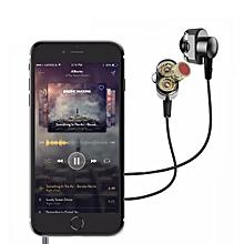 KD2 Earphone Mini Hybrid Dual Dynamic Driver In-Ear Earphones - Black (Without Microphone) xYx-S