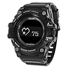 MUSCLE HR Smartwatch Bluetooth 4.0 IP68 Waterproof Remote Camera Sleep Monitor Sedentary Reminder Pedometer - BLACK