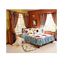 4Pc - Quilted Bedcover Set - 3 x 6 - Multicoloured