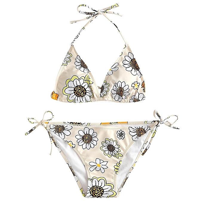 d886e8f0d0 Fashion Micro Floral String Bikini Set   Best Price