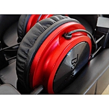 Boom Headphones Earphones - Black & Red