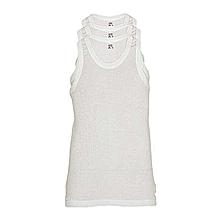 3 Piece White Comfort Vest