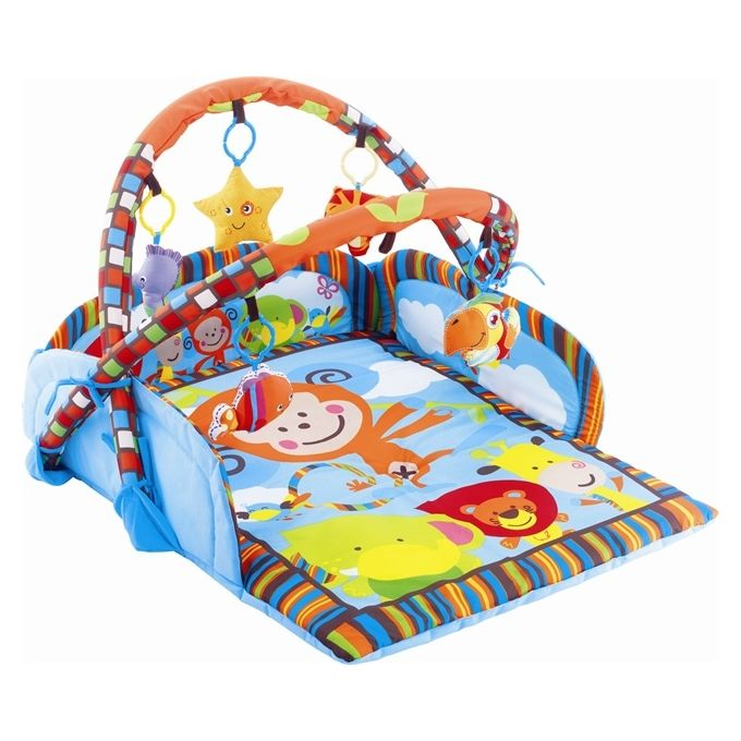 Baby Play Mat Plus Squeaky Toys - Multicolor