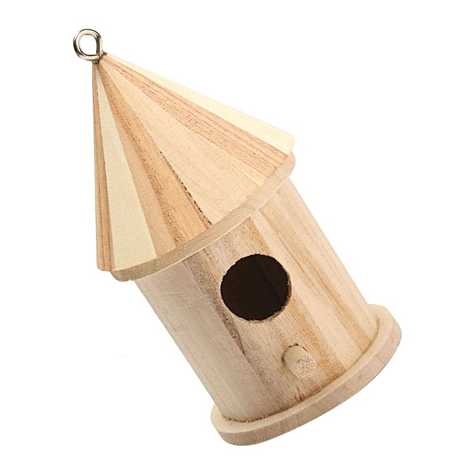 ... New Wooden Bird House Birdhouse Hanging Nest Nesting Box For Home Garden Decor ...