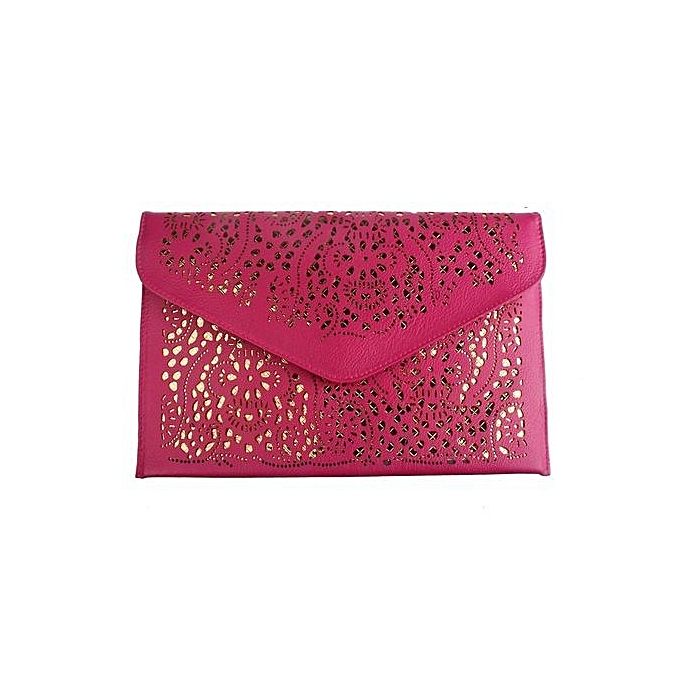 76d5746df4 bluerdream-Women Envelope Clutch Shoulder Messenger Bag Purse Handbag Hot  Pink-Hot Pink
