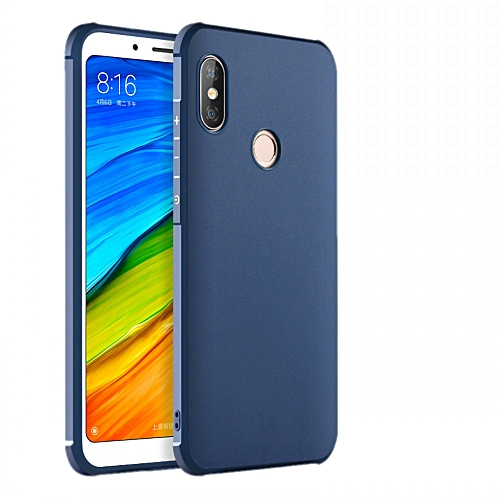best cheap 302c8 1024c Xiaomi Redmi Note 6/Redmi Note 6 Pro Silicon Case Matte TPU Anti-knock  Phone Back Cover - Blue
