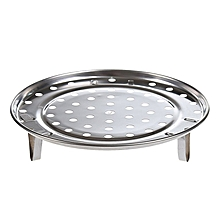Kitchen Round Stainless Steel Steamer Rack Insert Stock Pot Steaming Tray