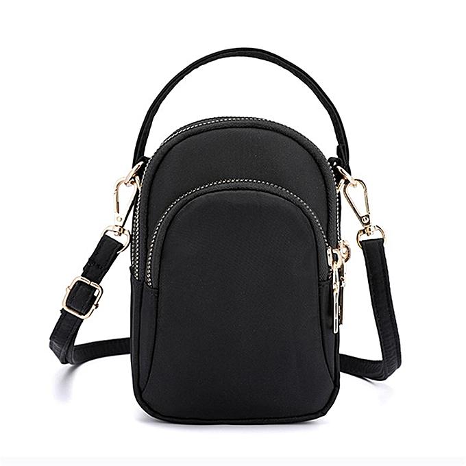 2049c9439b6 Women Crossbody Shoulder Portable Phone Bag Nylon Waterproof Multi- Slot  Solid