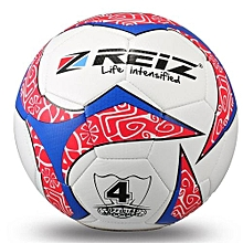 UJ REIZ 20CM Circumference Hit Color Football Balls Match Training Soccer Ball-white & Red & Blue-white & Red & Blue