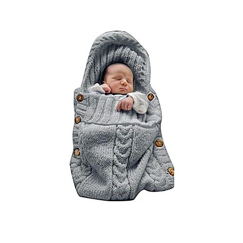 ae6ecb7411935 Generic Newborn Baby Wrap Swaddle Blanket Knit Sleeping Bag Sleep Sack  Stroller Wrap for Baby