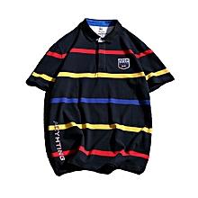 Men Polo Ralp Men Shirts Casual Cotton Camisa Polo Masculina Breathable Polos Hombre-blue