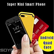 Mini Smart Phone Dual SIM Android Cell Mobile Phone MTK Quad Core 1GB+8GB 5.0MP X Redmi-red