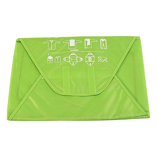 d05d0a8933 UNIVERSAL Portable Folding Travel Shirt Suit Storage Bag Preventing Wrinkle  Clothes Organizer Pack(Green)