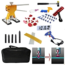 51 PCS Auto Car Metal PDR Dent Lifter-Glue Puller Tab Hail Removal Paintless Car Dent Repair Tools Kit, with 20W Glue Gun, US Plug or EU Plug