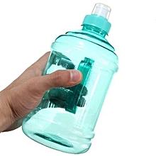 Outdoor Sport Big Drink Large Water Bottle Cap Kettle BPA Free Bike Cycling 1L (Cyan)