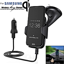 Qi Wireless Charger Dock Car Holder Charging Mount Pad For Samsung S6 S7 Edge