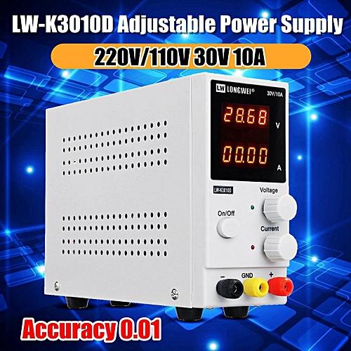 【Free Shipping + Flash Deal】0-10A 0-32V 220V LCD DC Power Supply Adjustable  Precision Digital Variable Lab