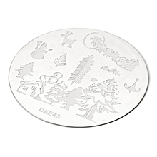 5pcs Christmas Tree Nail Image Stamps Temp Set Snowflake Bird Ring Snowman Santa Claus