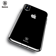 Baseus Dirt-resistant Case For iPhone X 10 Capinhas Ultra Thin Clear Soft TPU Silicone Cover Case For iPhoneX Coque Fundas transparent black () MQSHOP