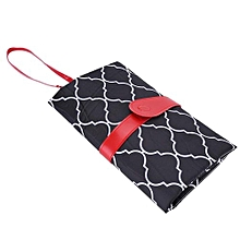 Portable Baby Diaper Changing Mat Pad Travel Foldable Infants Cover Nappy Bag- Black