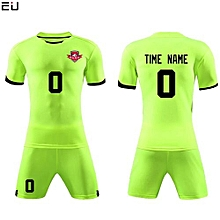 Customized Youth Chuldren And Adult Men's Football Soccer Team Jersey Set-Green(QD-625)
