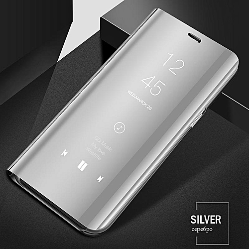 quite nice c297c 0c044 Luxury Smart Clear View Mirror Case For Huawei P Smart 2019 Cover Leather  Flip Case For Huawei P Smart 2019 Stand Phone Cases (silver)