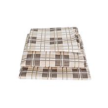 Duvet Cover Set - 4x6 - Brown Plaid