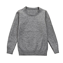 Toddler Baby Girl Boy Knitted Sweater Solid Sewing Cardigan Tops Outfits Clothes