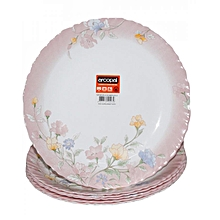 Flowered Plate Set - 6 Pieces