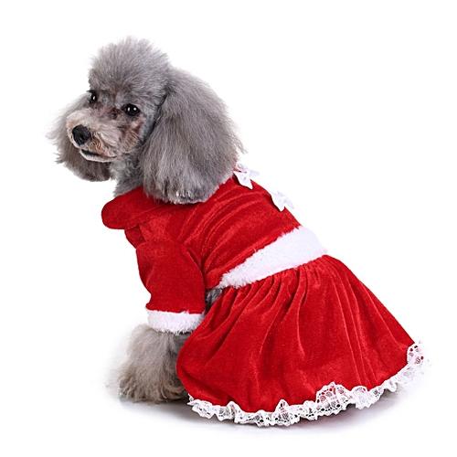 2d5ebf39e08 Christmas Series Pet Dog Clothes Christmas Costume Cute Cartoon Clothes  Dress red XL
