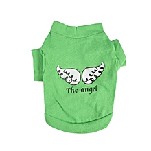 Pet Dog Shirt Sleeveless Breathable Apparel(Angel Green S)