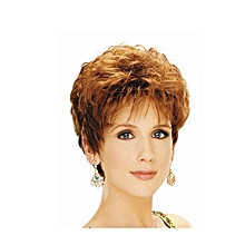 Short Brown Curly Wig For Women Halloween Costume Wig