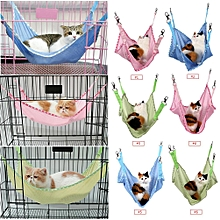 Breathable Pet Cat Dog House Hammock Bed Pink L