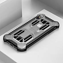 Baseus Cold Front Cooling A Mecha with Double Engine Heat Dissipating Shockproof PC+TPU Case for iPhone XS(Transparent)