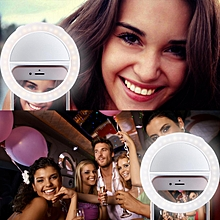 Selfie Ring Light  40 LED Rechargeable Circle Lights With Mirror Laptops Camera Round Shape (White)