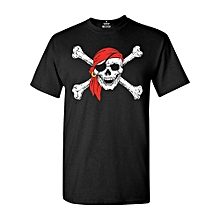 Funny T Shirt Men's Fashion T-shirt Jolly Roger Skull & Crossbones T-shirt Pirate Flag Shirts