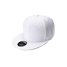 WHITE  Men's Women's  HIP HOP Cap Adjustable Baseball Unisex cap