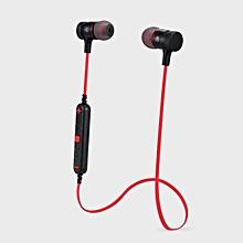 Wireless Bluetooth 4.0 Sport Outdoor Headset Headphone for Smart Phones -Red