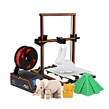 E12 3D Printer DIY Kit Partially Assembled Aluminum Alloy Frame Super Large Building Volume 300*300*400mm with 8GB TF Card