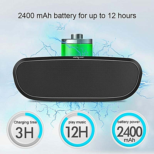 Kobwa Portable Bluetooth Speakers,Wireless Speakers Subwoofer,FM  Radio,Support TF CardU Disk ,12 Hrs Playtime,10W Dual-Driver Loudspeaker,HD  Stereo
