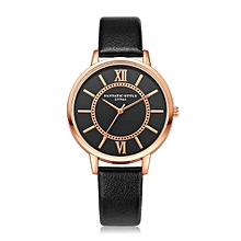 guoaivo LVPAI Watches Women Quartz Wristwatch Clock Ladies Dress Gift Watches BK -Black
