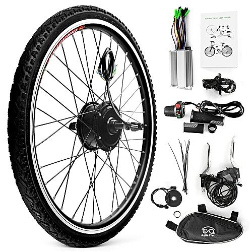 26x1 75'' Electric Bicycle Rear Wheel Disc Brake Hub Motor Kit 36V 250W  Powerful Motor E-Bike Conversion Kit Controller Thumb Speed Throttle Signal