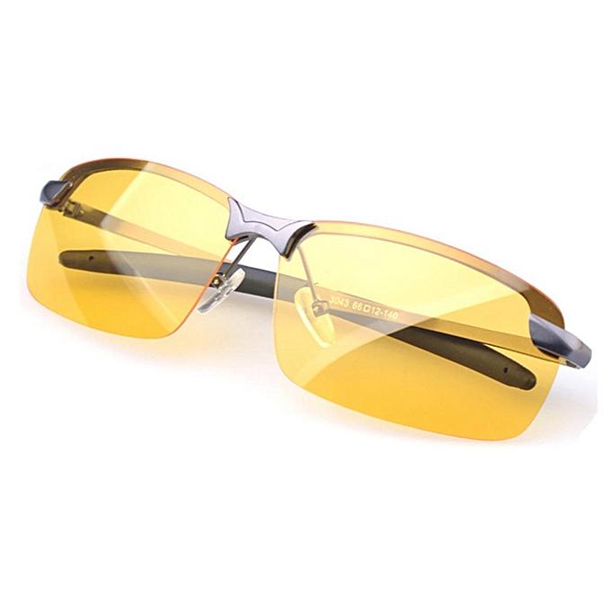 9acf80dc104 ... Anti-Glare TAC Men Driving Yellow Lens Sunglasses Night Vision  Polarized Glasses  Gray ...