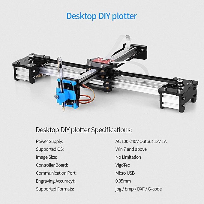 Desktop DIY Assembled XY Plotter Pen Drawing Robot Drawing Machine Painting  Handwriting Robot Kit 100-240V