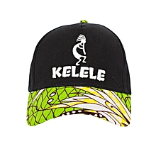 Black And Green Baseball / Sports Hat With Kelele Color On Brim