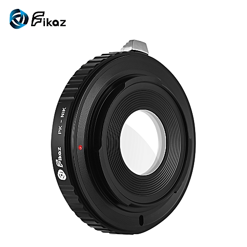 Fikaz High Precision Lens Mount Adapter Ring Aluminum Alloy Built-in Glass  for Pentax PK-Mount Lens to Nikon