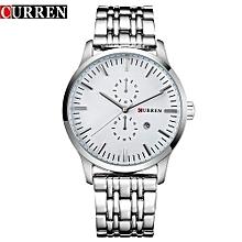 Men Sports Stainless Steel Quartz Military Wrist Watch