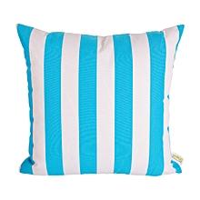 Outdoor Pillow - 45cm x 45cm - Blue & White