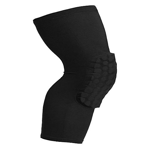 Honeycomb Pad Crashproof Antislip Basketball Leg Knee Long Sleeve Protector Gear Black L